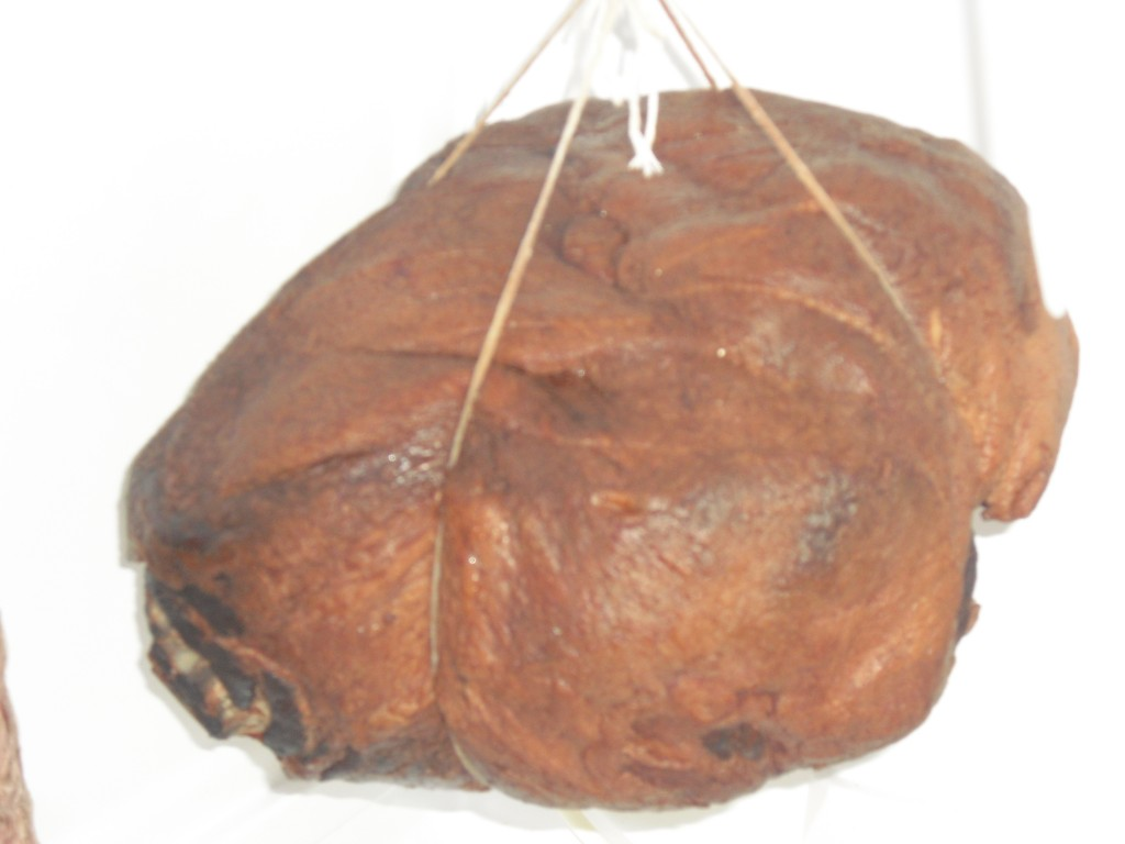 Molasses Ham Hanging in Fridge